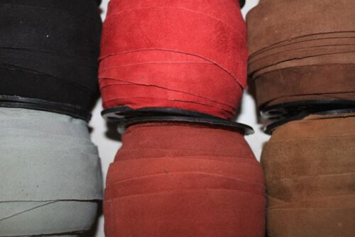 1-Inch Wide - Thin Suede - Genuine leather Suede - 0.5 to 0.7 mm Thickness