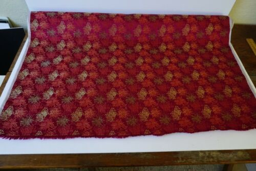 Antique Vintage, Bolt Chinese Silk Woven Brocade Fabric. 4 yards Chrysanthemum