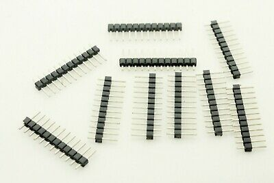 Lot 10 X 12 Pin 2.54mm Single Row Male Pin Header Strip For Arduino Prototype