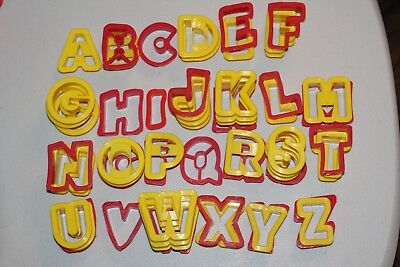 Cookie Cutters - Alphabet Letters, two styles, huge lot of 60 letters