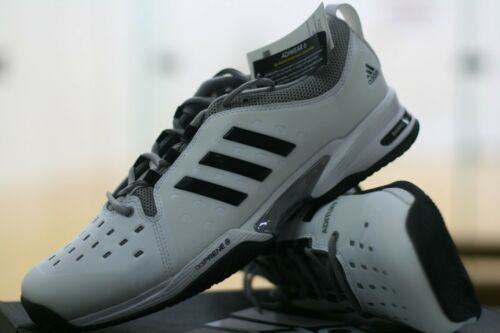 ADIDAS RACQUETBALL / TENNIS COURT SHOES WHITE / BLUE BARRICADE 4E WIDE Men 11.5