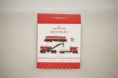 2013 Hallmark Miniature Lionel Minneapolis & St. Louis Work Train Set