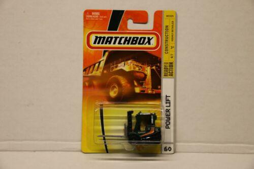 Matchbox Power Lift Fork Truck - #60 - Green & Black - MB Construction - 2007