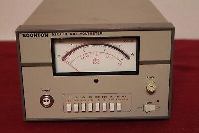 Boonton 92ea 200b5v To 3 V 10 Khz To 1.2 Ghz Rf Millivoltmeter Tested