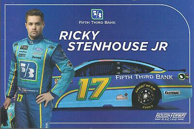 2018 Ricky Stenhouse Jr  Fifth Third Bank   17 Nascar Monster Energy Postcard