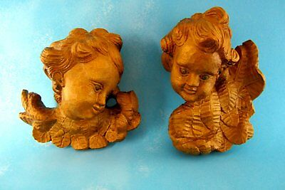 Beautiful Angel Putti Wood Carved Handmade Special Collectibles