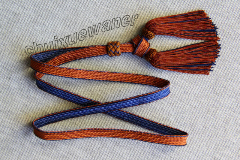 WW II Japanese Army officer sword tassel blue brown(rayon)(Reproductions)