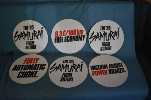 1985 Suzuki Samurai Showroom Advertising Hangers Banner Signs