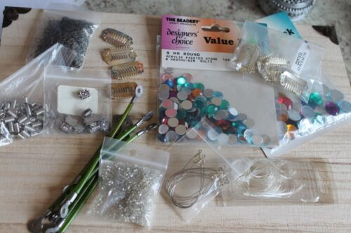 Jewelry Making Lot Charms Steampunk Findings Chain LOOK Vintage Supplies LOT
