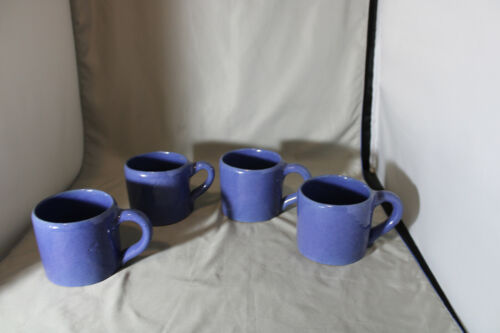 Lot of 4, Bybee, 10  ounce  Blue Mugs,