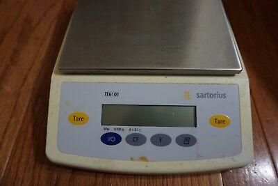 Sartorius Te6101 Max 6100 Grams 100 Mg Laboratory Scale Balance Lab