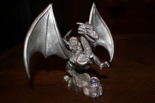 Vintage Pewter Dragon Rider Spoontiques CMR653 Dungeons & Dragons 1988