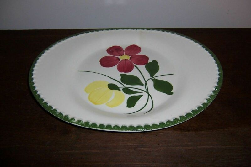 Oval Serving Platter Plate - BETTY - Blue Ridge Southern Potteries - Flowers