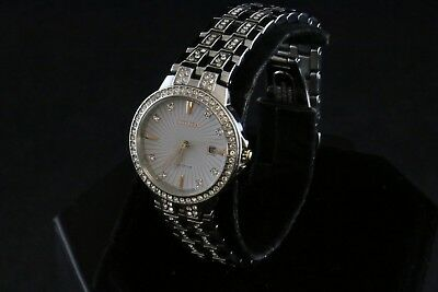 Citizen Eco-Drive Silhouette Stainless Steel w/ Crystal Ladies Watch -