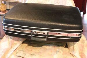 vintage ancienne valise samsonite rigide noire a code ebay. Black Bedroom Furniture Sets. Home Design Ideas