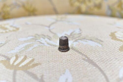 Antique Vintage Sterling Silver Size 6 Thimble