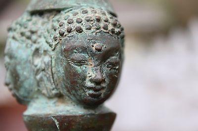 10th-16th c. Javanese Bronze Buddhist Vajra Bell - High Priest, Buddha - Museum
