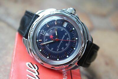 Reloj de pulsera militar ruso Vostok Komandirsky # 211398 NUEVO