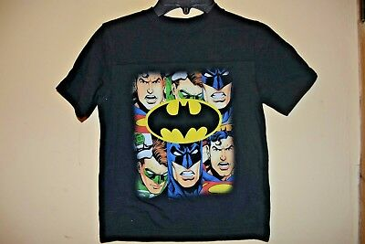 JUSTICE LEAGUE/6 SUPER HEROES-BOYS SIZE 5/6-LICENSED SHORT SLEEVE-NWOT (Justice Boys)