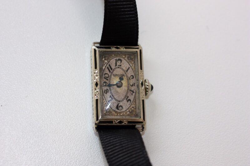 Gruen 14kt Watch Vintage Tested working