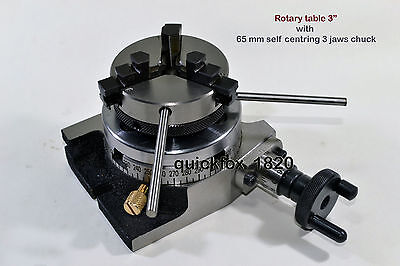 Rotary Table Horizontal Vertical 3 With 65 Mm Self Centring Chuck