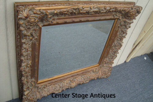61396  Large Carved Gold Mirror in Fancy Picture frame