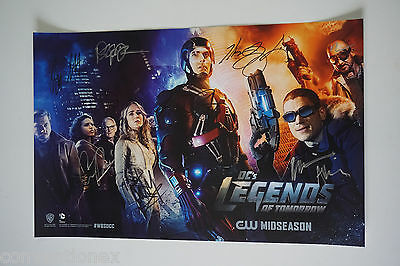 Sdcc Comic Con 2015 Dc Legends Of Tomorrow Signed Poster Wentworth Miller  9