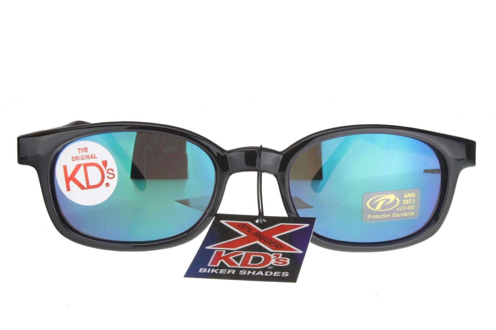 X KD /'S Lunettes De Soleil Original Motard nuances moto couleur noire Miroir 10118