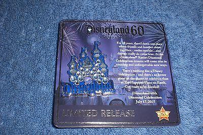 Disney Movie Rewards DLR Disneyland 60th DIAMOND CELEBRATION SB CASTLE Pin