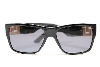 Versace VE4296/GB1 Black POLARIZED  Suns New Authentic 59