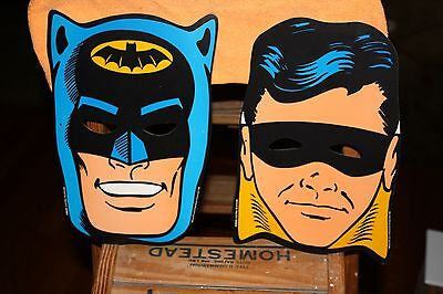 Pair of ©1966 NPP BATMAN & ROBIN MASKS GENERAL ELECTRIC GE TELEVISION Vintage (Batman And Robin Masks)