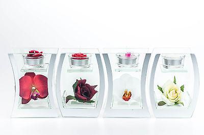 Teelicht Spiegel (Spiegel Glas Vase Teelicht Halter Design Deko Art Trend 15 Design Trockenblumen)