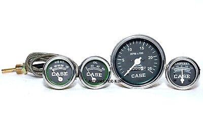 Case Tractor Temperaturetachometer Oil Pressure Ammeter Gauge Set