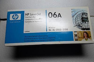 HP 06A Black Toner Cartridge 2.6K-Pages Laserjet 5L 3150xi 3100 C3906A OEM NEW