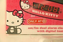 New Pink/White Hello Kitty AM/FM Alarm Clock Radio KT2051 Target Exclusive