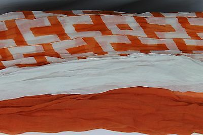 Layer Scarf - Triple Layer Scarf Orange White and UT Print