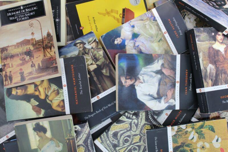 Lot of 10 Penguin Classics Paperback Books MIX