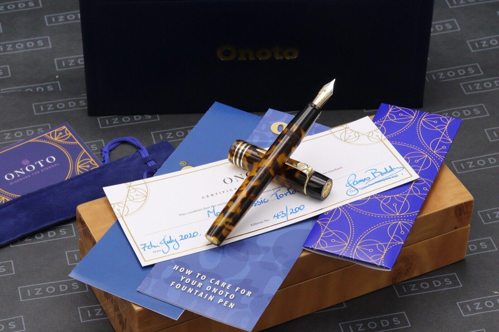 Onoto Magna Classic Tortoiseshell Fountain Pen