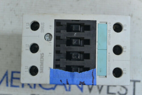 Seimens 3RT1034-1BB40 Contactor 24VDC *TESTED *USED