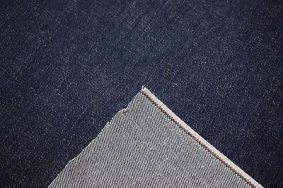 "Indigo Denim 100% Cotton Navy Blue 68"" W Canvas 14 OZ. Bull Twill Fabric Apparel"