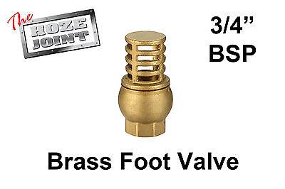 """Foot Valve - 3/4"""" (20mm) BSP Female Thread - Brass - Strainer"""