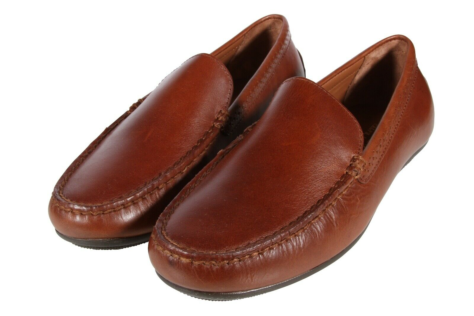 Polo Ralph Lauren Men's Shoes Redden Casual Driving Leather Loafers Polo Tan 1