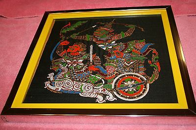 Vintage India or Indonesia Gods Painted Cloth Picture