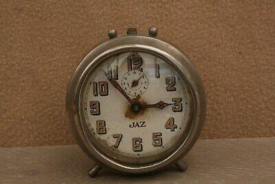 ANTIQUE JAZ ALARM CLOCK FOR SPARES OR REPAIR