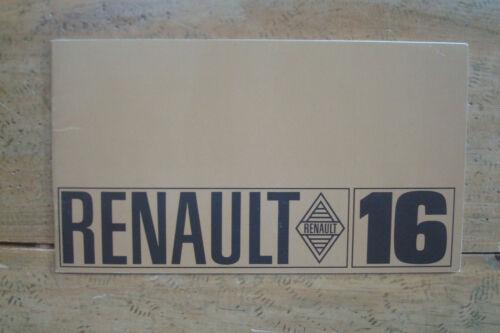 1968 Renault 16 Brochure Small