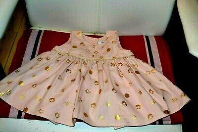 Robe baby dior  rose avec papilles or 6 mois craquante estivale