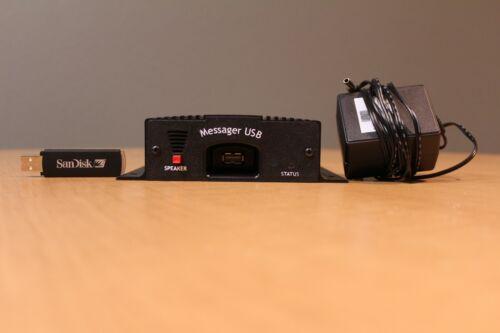 Messager USB Digital Audio Player w/ USB Flash Drive (MSG-USB)