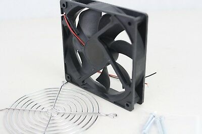 12v Fan 120mmx120mmx25mm Silent 2000rpm Condenser Refrigeration Guard M4 Screws