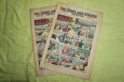 WWII 1945  Star and Stripes Newspapers Sunday Comics Mediterranean Edition (2)
