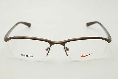 Nike Eyeglasses NK 6037 059 Brown or Black TITANIUM 53mm  (Eyeglass Or Eyeglasses)